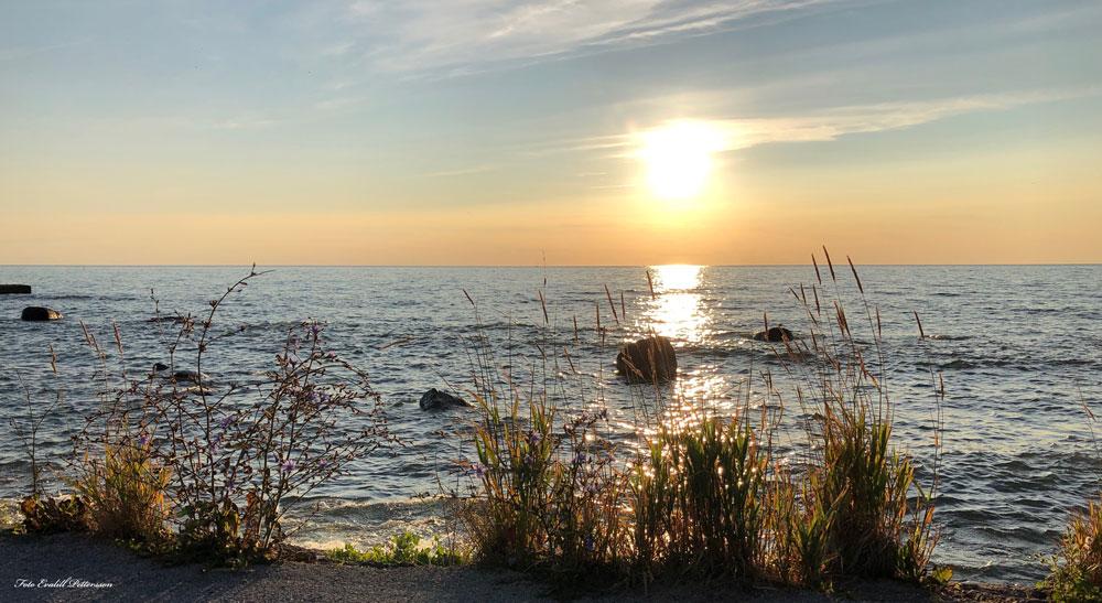 strandpromenaden nedanför Visby lasarett